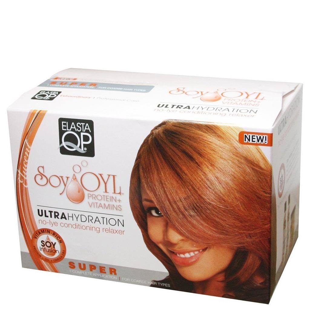 Elasta QP No-lye Conditioning Crème Hair Relaxer Kits